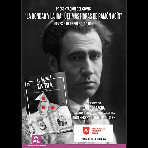 """El cómic """"la bondad y la ira"""" en la biblioteca arús de barcelona"""