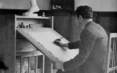La mesa de dibujo de Ramón Acín