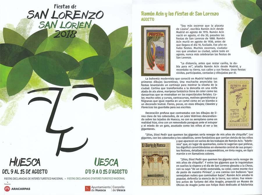 Ramón Acín y las fiestas de San Lorenzo
