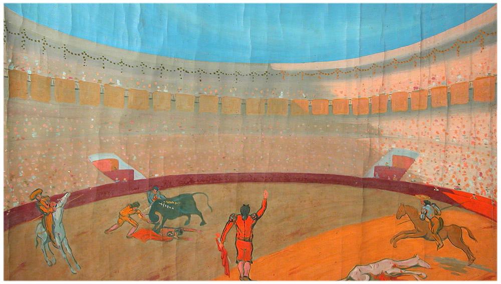 Ramón Acín y sus toros en la Biblioteca Nacional