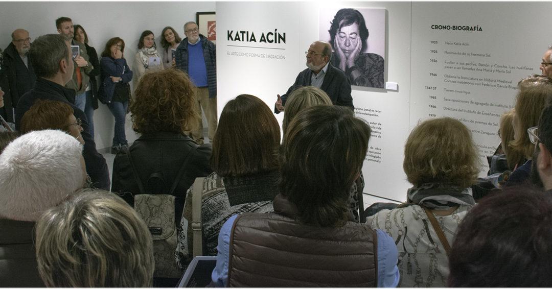 Inauguración de la exposición de Katia Acín Monrás