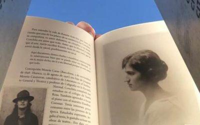 Un recuerdo de Conchita Monrás en el cementerio de Huesca
