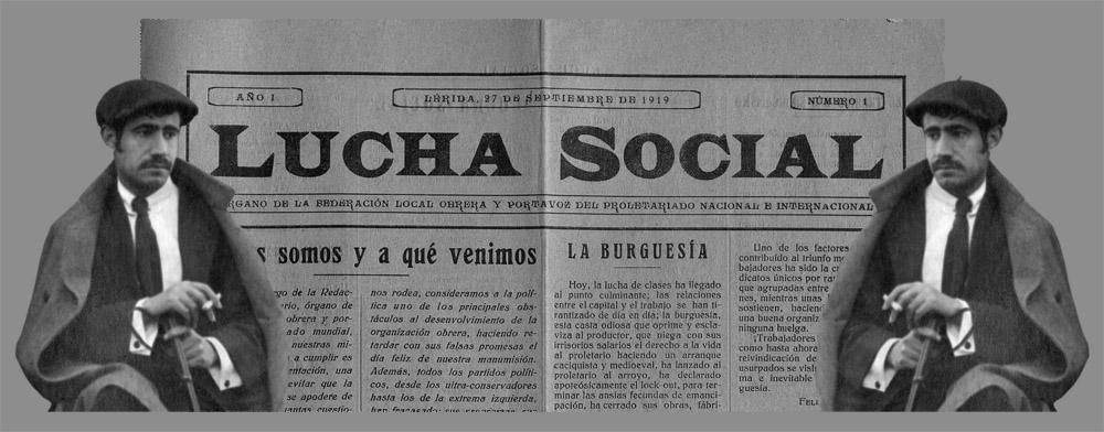 Dos artículos de Acín en «Lucha Social», de Lérida